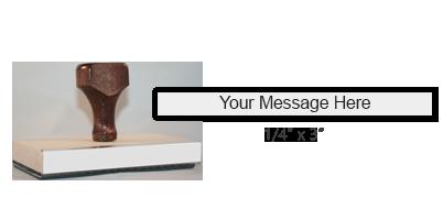WD-3 - 1/4 x 3 Custom Hand Stamp